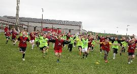 Picture of pupils running