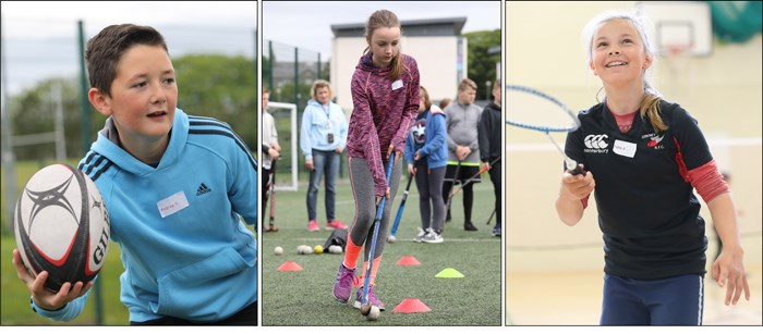 Images from Active Schools events.