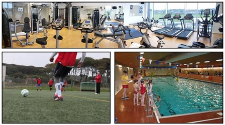 Fitness suite at KGS Sports Centre, playing football on the KGS synthetic pitch, Stromness Swimming Pool.