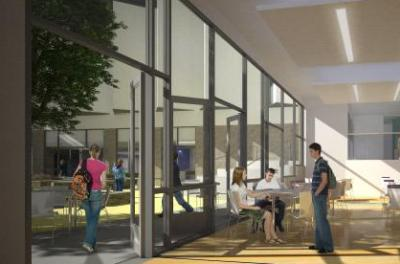 Artist impression of dining area