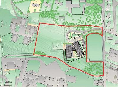 Artist impression of site plan