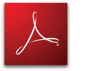 Adobe Acrobat Reader logo.