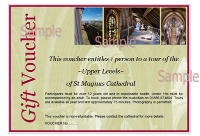 Image of a sample of the Gift Voucher.