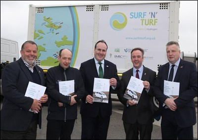 Images of the unveiling of the Orkney Sustainable Energy Strategy 2017-2025.