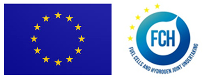 European Union flag and Fuel Cells and Hydrogen Joint Undertakings logo.