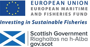 European Maritime and Fisheries Fund logo and Scottish Government logo.