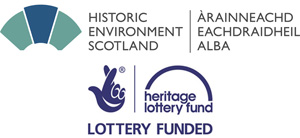 Historic Environment Scotland and Heritage Lottery Fund logos.