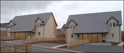 Image of newly built house in Finstown.