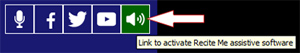 Image of Recite Me activation button.